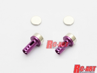 ART2147 5mm aluminum body mount cap (Magnet) Purple