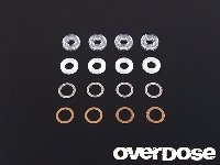 OD1169a Shock oil seal set(X ring-Shaft guide-Shim) Vacula, Divall,XeX,TRF, etc.