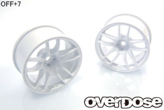 OVERDOSE OD2477 R-SPEC WORK EMOTION CR Kiwami (White/OFF+7)