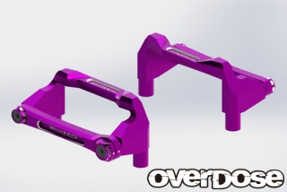 OVERDOSE OD2525 Aluminum Battery Holder Set (For OD/Purple)