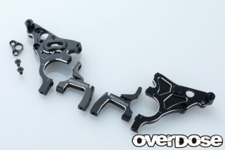 OVERDOSE OD2588 Multi Purpose Aluminum Rear Bulkhead (For GALM/Black)