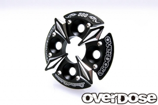 OVERDOSE OD2673 Spur Gear Support Plate Type-5 Limited Edition / Black