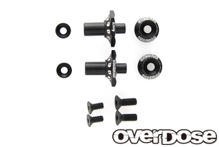 OVERDOSE OD2715 Aluminum One Piece Axle Shaft 4mm(For OD/RWD Front/Black)
