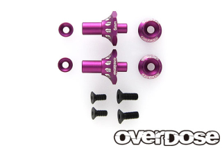 OVERDOSE OD2716 Aluminum One Piece Axle Shaft 6mm(For OD/RWD Front/Purple)