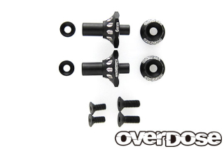 OVERDOSE OD2718 Aluminum One Piece Axle Shaft 6mm(For OD/RWD Front/Black)