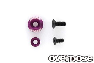 OVERDOSE OD2719 Wheel Washer Set / Purple (For OD2713-8 / 1pc)