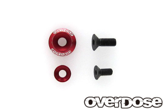 OVERDOSE OD2720 Wheel Washer Set / Red (For OD2713-8 / 1pc)