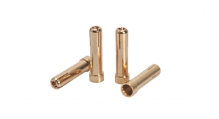 LRP 5mm to 4mm Gold Works Team adapter plug (4 pcs.)