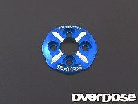 OVERDOSE OD1209 Spur Gear Support Plat Type-3 (Blue)