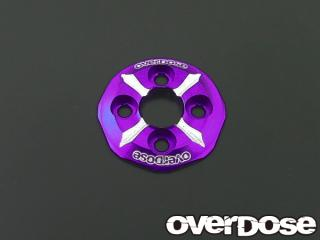OVERDOSE OD1208 Spur Gear Support Plat Type-3 (Purple)