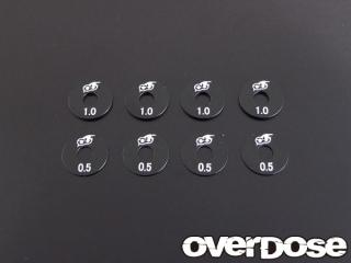 OVERDOSE OD1438 Wheel Spacer Set (Black/0.5mm x 4pcs, 1.0mm x 4pcs)