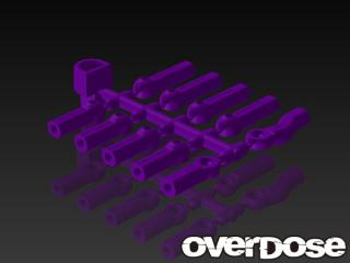 OVERDOSE OD1583 HD Ball End Cap Set (Purple)