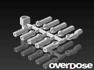 OVERDOSE OD1585 HD Ball End Cap Set (White)