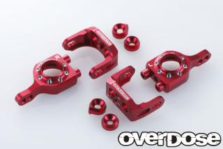 OVERDOSE OD1566 Adjustable Aluminium Upright Set (For Vacura A-Arm) RED