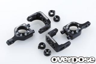 OVERDOSE OD1567 Adjustable Aluminium Upright Set (For Vacura A-Arm) BLACK