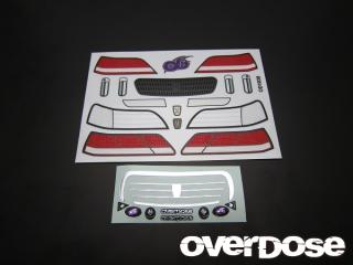 OVERDOSE OD1038 3D Graphics Series Light & Grill Emblem Set for Cresta