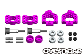 OVERDOSE OD2277  Adjustable Aluminum Rear Upright (For OD, YD-4, YD-2 / Purple)
