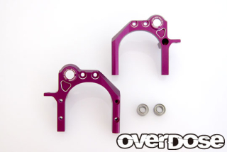 OVERDOSE OD2261 Oversize ball bearing center mount / purple For Divall / LR set
